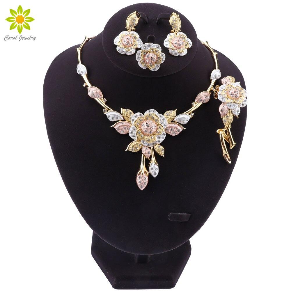 Fashion Dubai Jewelry Set luxury Wedding Bridal Gifts Nigeria African jewelry Sets Wholesale Accessories
