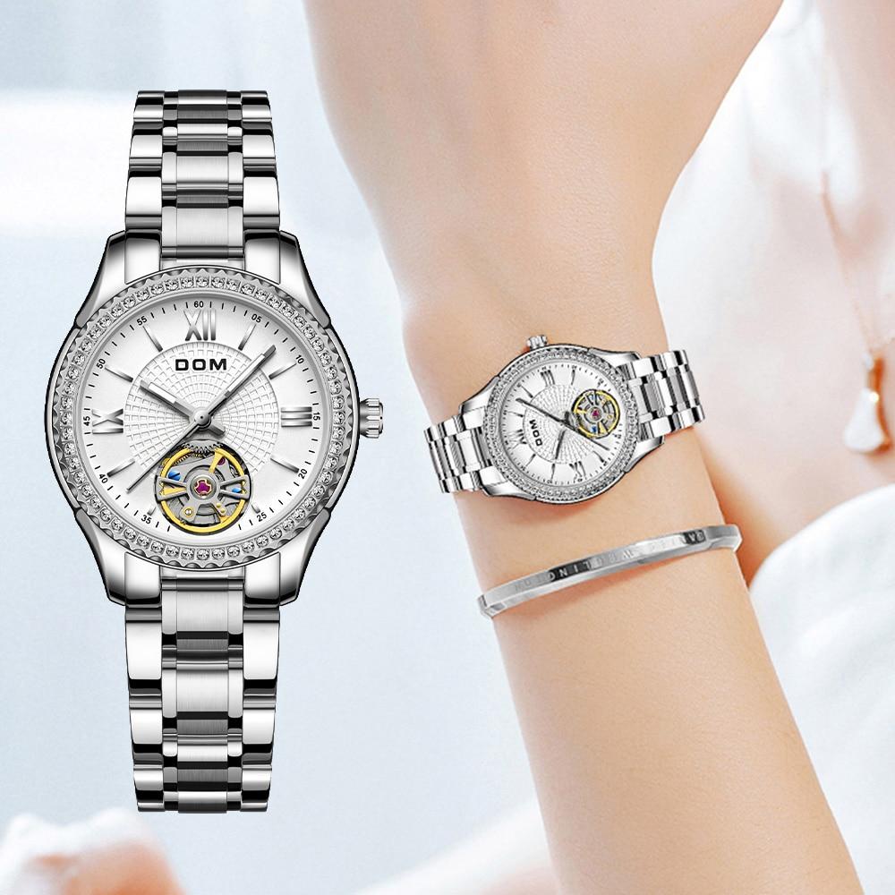 DOM automatic mechanical watch  business  female watch men's watch couple watch luminous  sports waterproof stainless steel