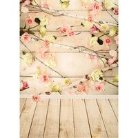 shuozhike vinyl custom photography backdrops prop flower and wood planks theme photography background lcjd 179
