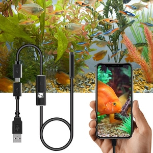7mm Mobile Phone Endoscope Waterproof Pipe Endoscope USB 6LED Industrial Inspection Camera Auto Repair Test Snake Tube