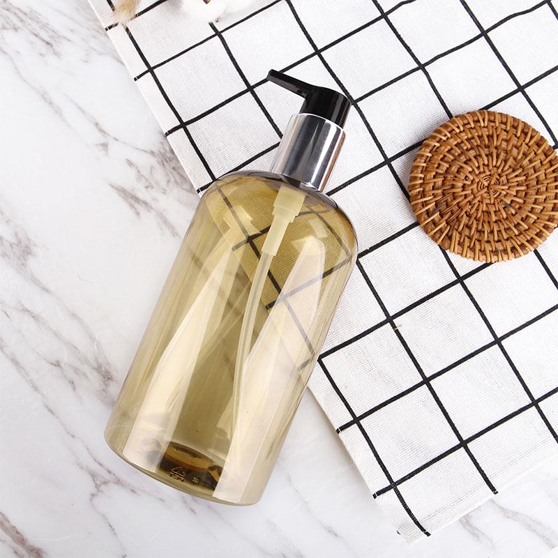500ml Shampoo Soap Empty Pressed Refillable Bottles Large Amber Protable Lotion Foam Spray Storage Pump Bottle