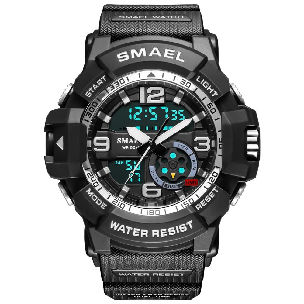 2021 New Sport Watch MenWaterproof Alarm Clock Auto Date LED Digital reloj hombre Military Watches Quartz Wristwatches