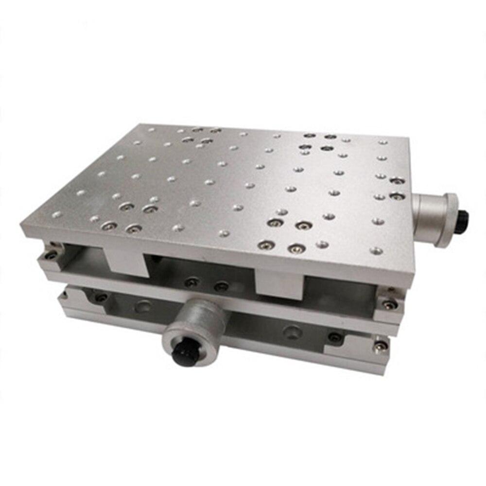 2 محور تتحرك الجدول المحمولة حافظة خزانة XY الجدول ل الليزر وسم آلة الحفر 210*150*80 مللي متر