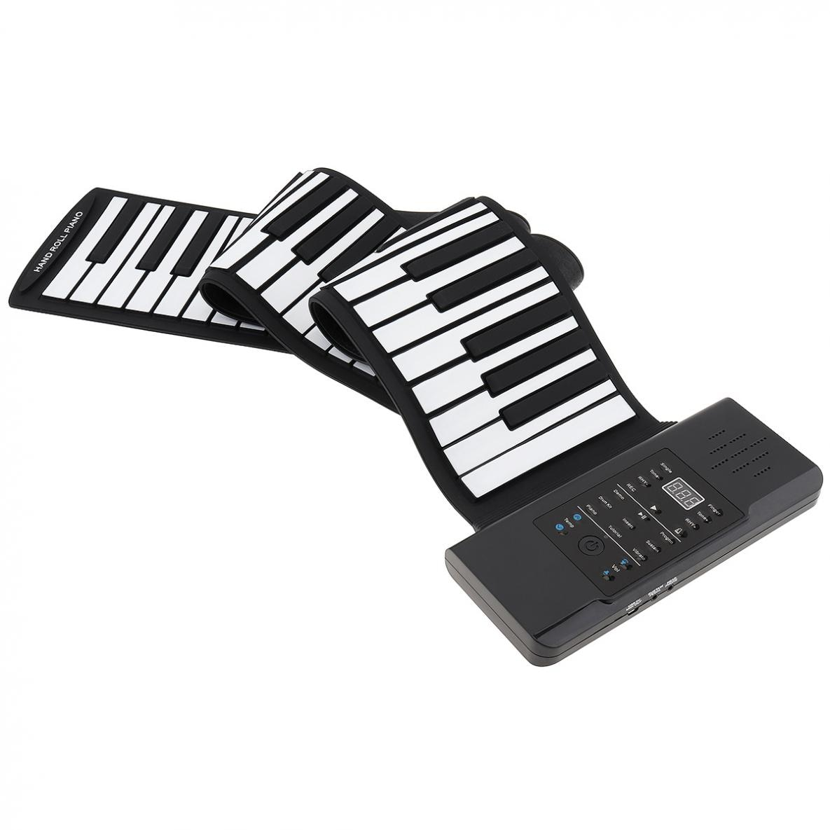 88 Keys MIDI Roll Up Electronic Piano Rechargeable Portable Silicone Flexible Keyboard Organ Built-in Speaker for Performance enlarge