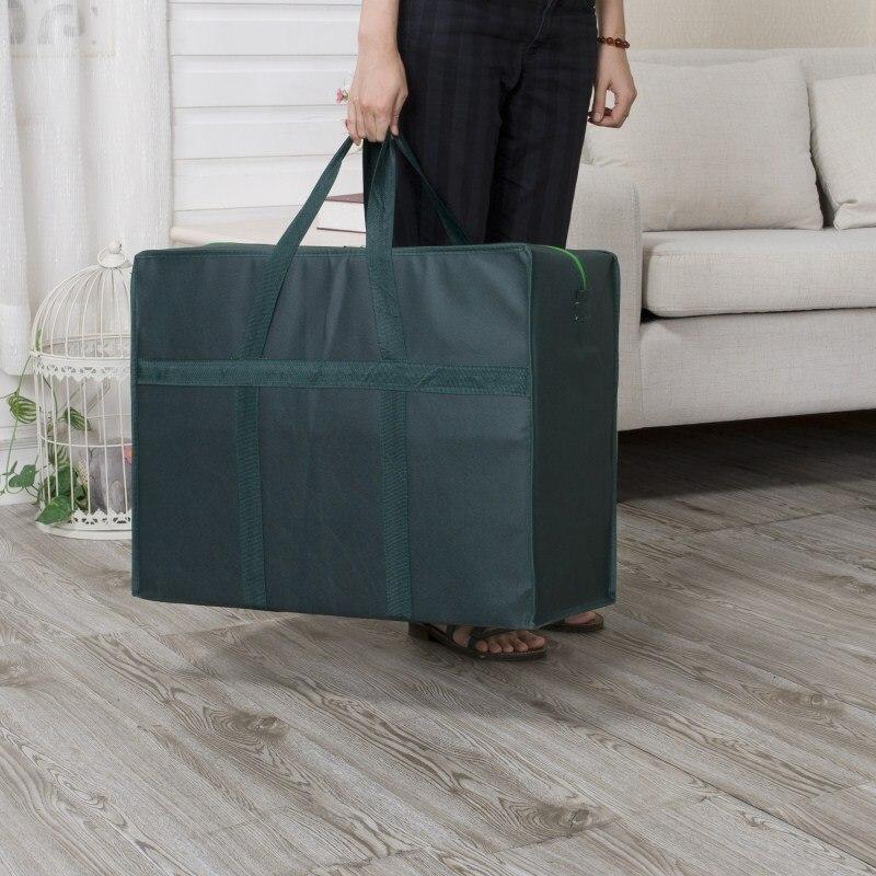 Bolsa de almacenamiento tejida de gran capacidad BAKINGCHEF, bolsas organizadoras de ropa de edredón para mover accesorios de viaje, suministros, productos, lote de estuches