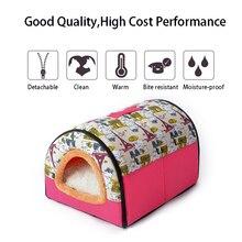 Os lit pour animaux de compagnie chaud linge de lit pour animaux de compagnie pour petit moyen grand chien doux lit pour animaux de compagnie canapé sac de couchage maison chiot grotte lit lavable maison