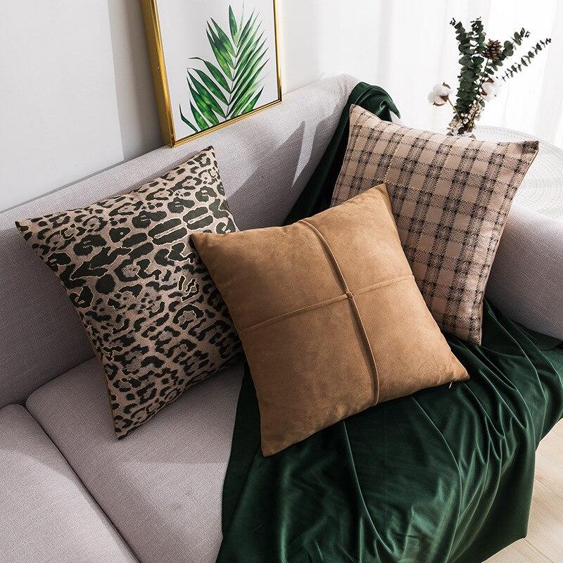 Современный ветер замши подушки, декоративная наволочка модель номер диван автомобиля Спальня Декоративные Чехлы для подушек чехол