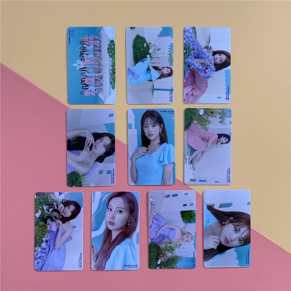 Kpop iz * um nako hitomi yuri yujin yena sakura chaewon minju chaeyon novo álbum oneiric diário cartão de cristal cartão de ônibus adesivo izone