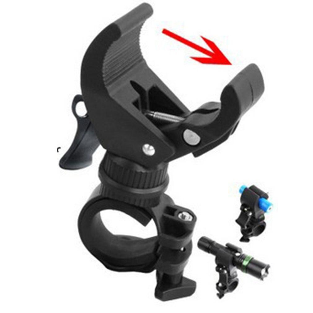 Soporte para linterna de bicicleta, diseño Universal, rotación de 360 grados, con Clip