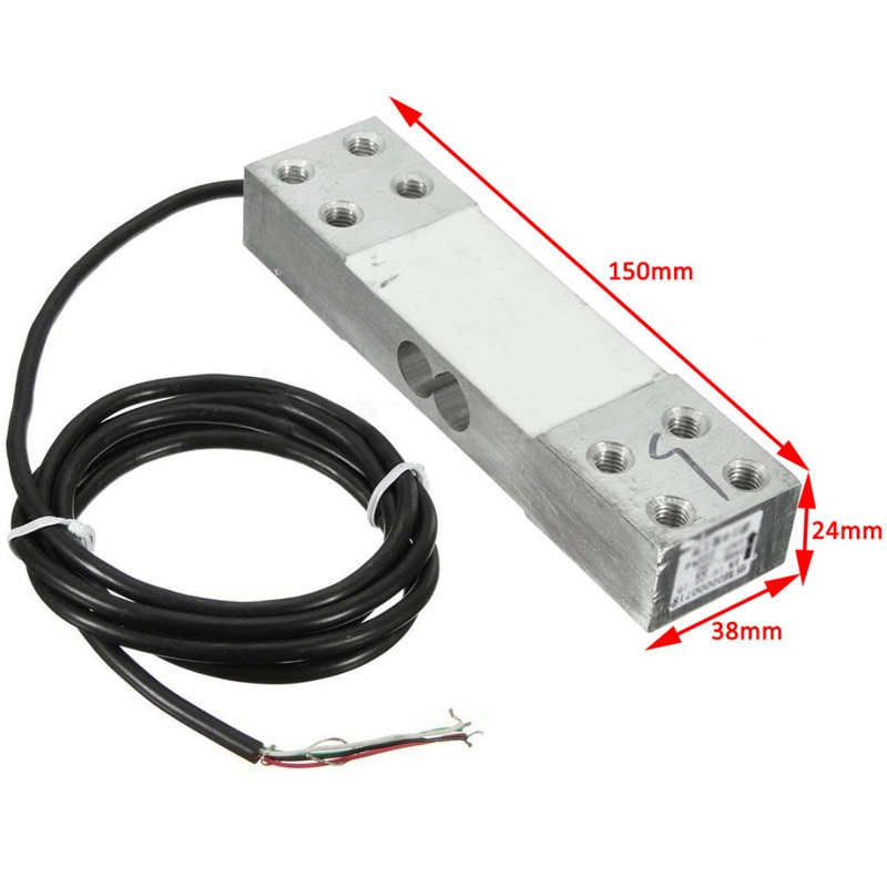Load Weighing Sensor 200kg Electronic Platform Scale Aluminum Alloy Load Cell Weight Durable