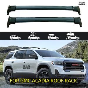 for GMC ACADIA 5 DOOR SUV  2018 - 2020 Roof Bar Car Special Aluminum Alloy Belt Lock Led Shooting CORSS RACK