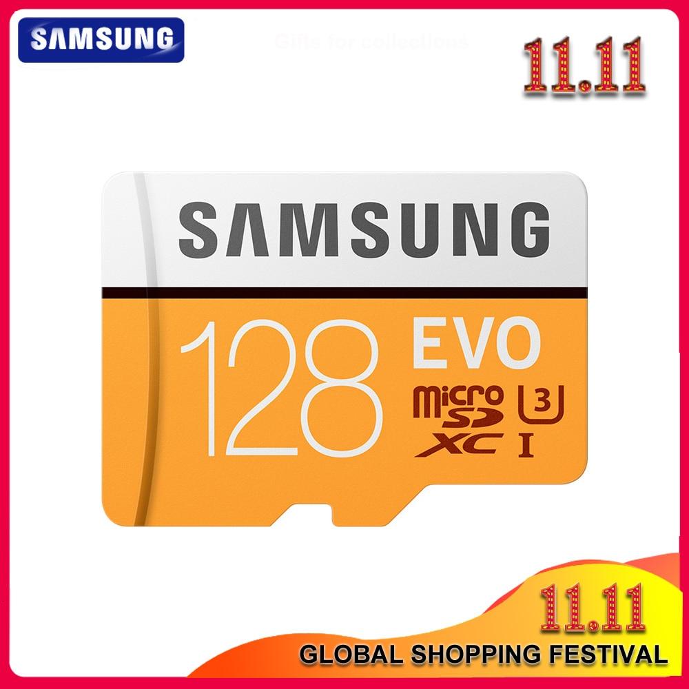 Original SAMSUNG Micro SD EVO 64GB tarjeta de memoria Class 10 128GB Max 100 MB/S SDXC U3 UHS-I TF Tarjeta de 4K HD para Smartphone Tablet PC