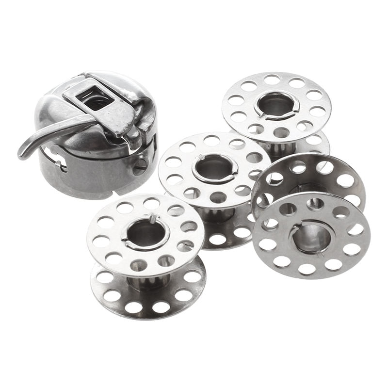 Caja de bobina de máquina de coser BESTDomestic + se adaptarán 4 bobinas, brother janome,singer + más
