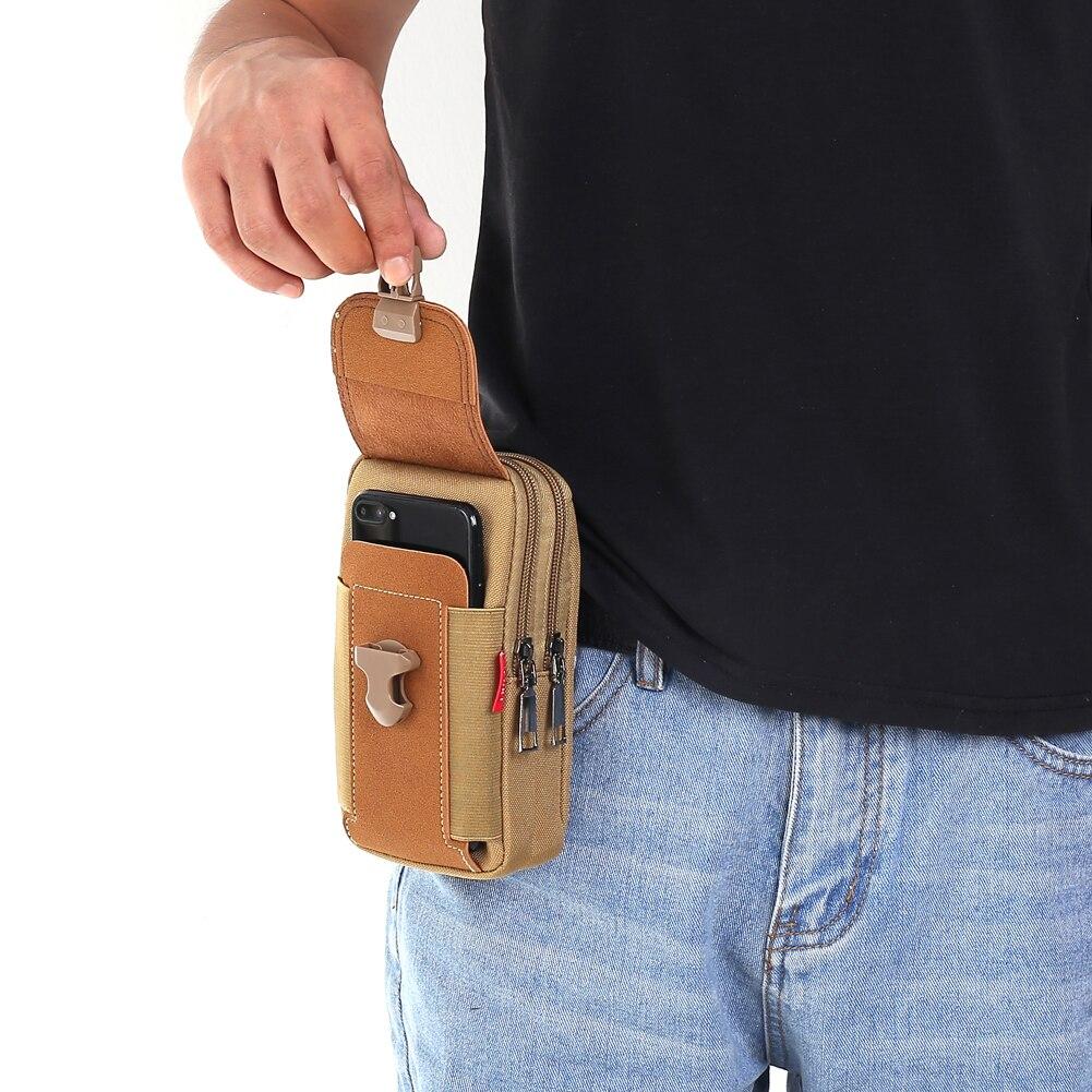 Многофункциональная поясная сумка из искусственной кожи для мужчин, уличный кошелек, Повседневная Мужская Дорожная Спортивная бананка на ...