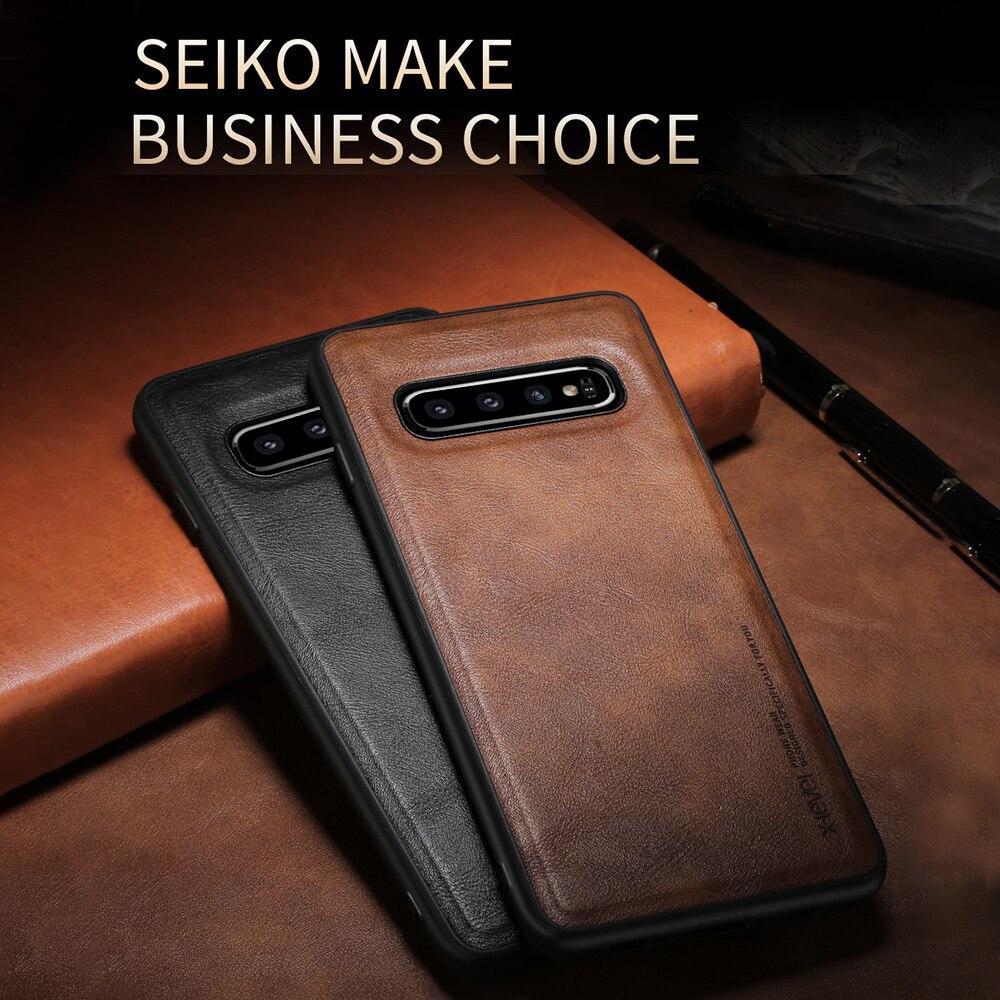 LLZ.COQUE Премиум кожаный ультра тонкий чехол-скоба для Samsung Galaxy S10e S9 S10 S20 Plus Note 9 Fundas Cover Capa