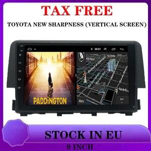 for Honda New Civic  interchangeable car dvd Multimedia Video Player Navigations navi 2 din car accessory Auto radios 1+16G