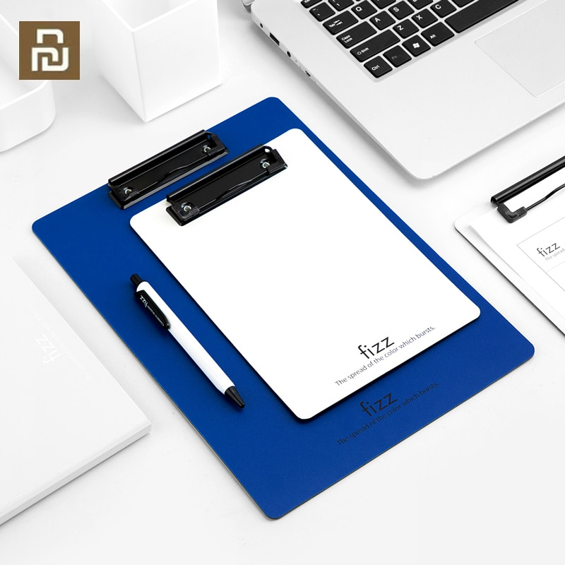 a4 multifunctional folder information folder sales clip manager talk about single clip office board clip measuring room contract Youpin Fizz Board Clip A4 Folder Record Board A5 Writing Board Pad Board Meeting Record Folder Office Supplies Stationery