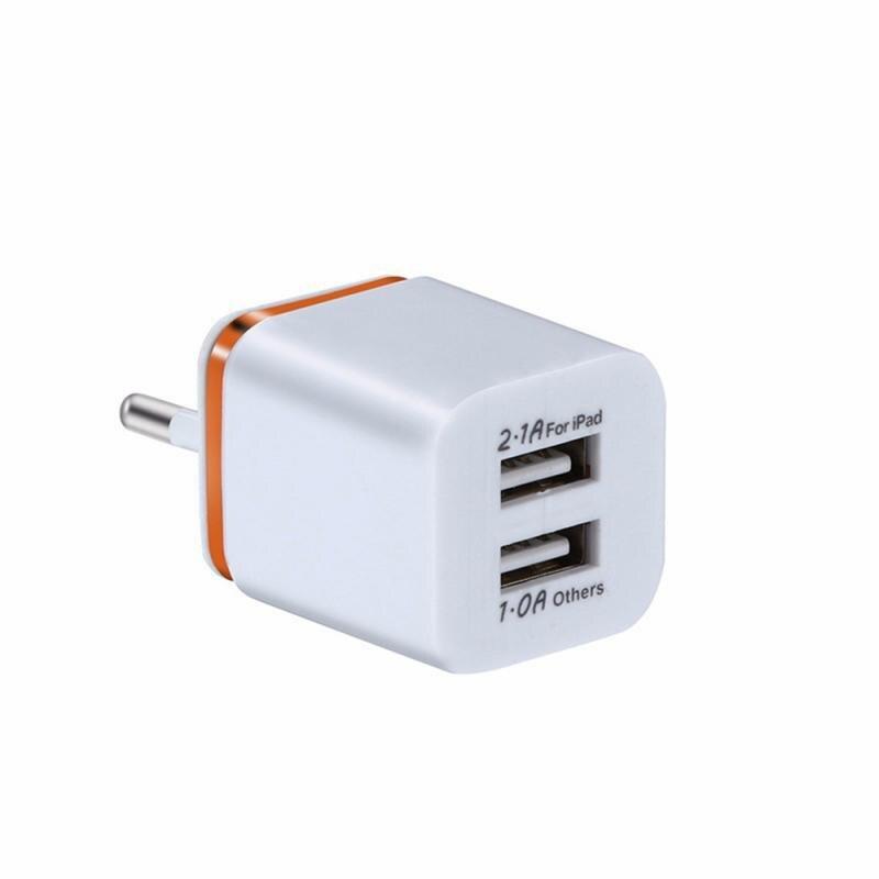Универсальное зарядное устройство с двумя USB-портами, 2,1 А, быстрая зарядка, вилка стандарта ЕС/США, портативный настенный мобильный телефон, зарядное устройство для IPhone, Huawei-3
