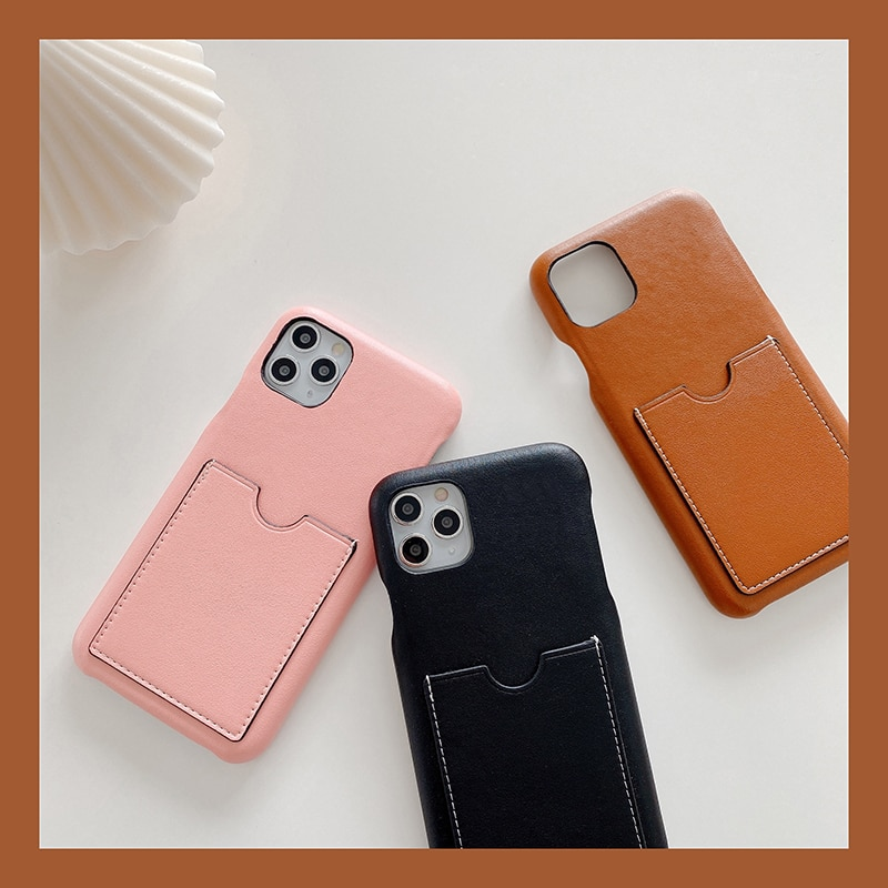 LO17 Top Quality Leather Card Pocket Phone Case For iPhone 11 Pro Max 7 8 Plus XR X Luxury Brand Car
