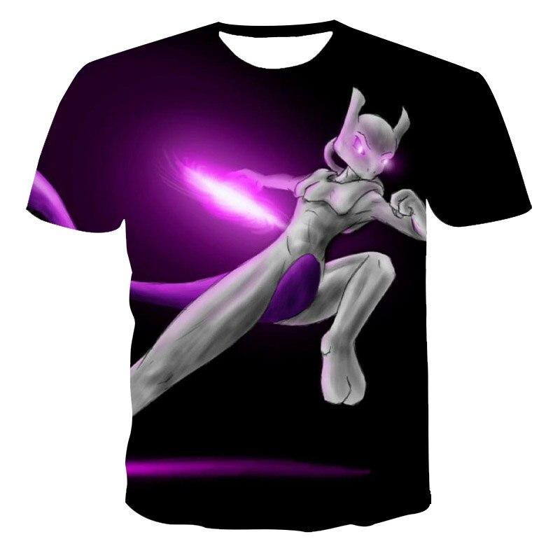 2021 new summer 3D printed T-shirt male clothing anime pokemon popular short-sleeved fashion O-neck street wear cool T-shirt