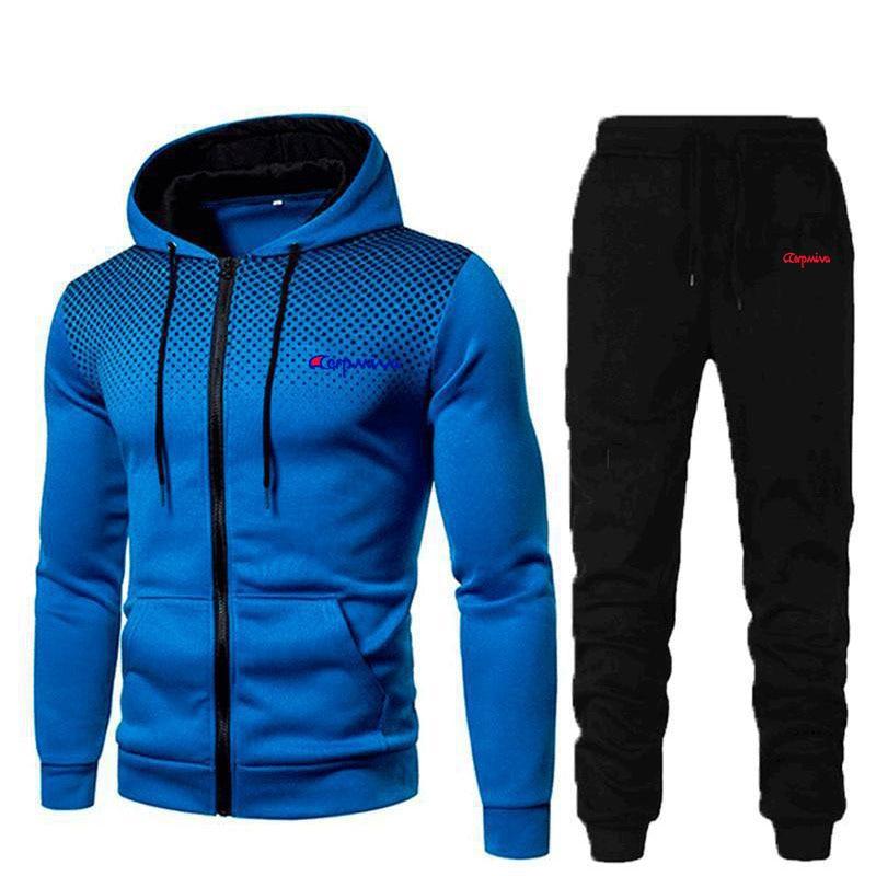 Traje de otoño e invierno para hombre de ropa deportiva y pantalones...