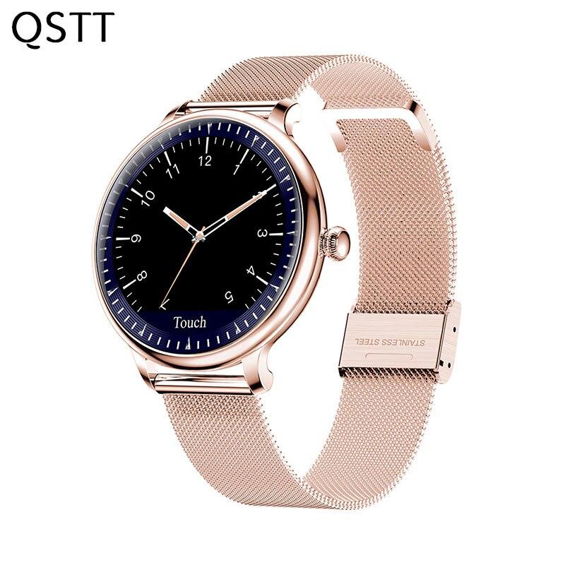 Reloj inteligente NY12 para mujer con pantalla redonda, reloj inteligente con control del ritmo cardíaco, compatible con Android e IOS