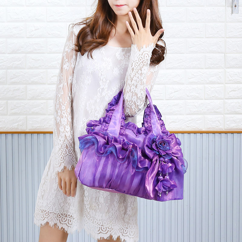 Lace women handbag female cloth purse cute portable shoulder bag  01-SB-kaxkls
