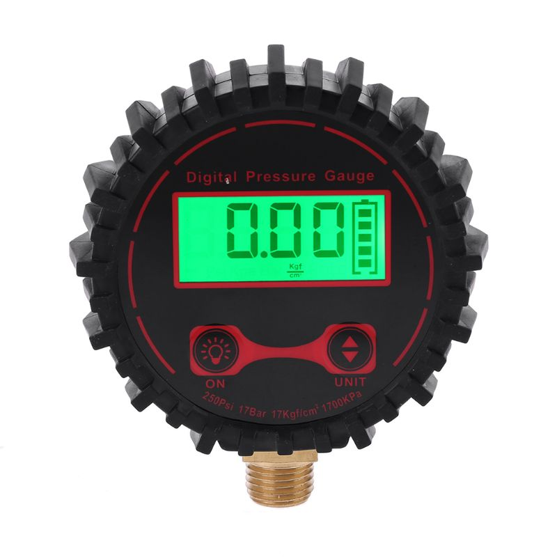 0-250 PSI Digital Tire Pressure Guage 1/4 with Flashlight for Car Truck Vehicle Bicycle Motorcycle Tyre Inflator Gauge