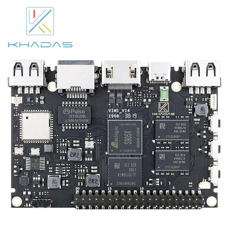 khadas vim1 basic mother board only 2g 8g Одноплатный компьютер Khadas VIM1 Pro, четырехъядерный ARM, Amlogic S905X, с открытым исходным кодом