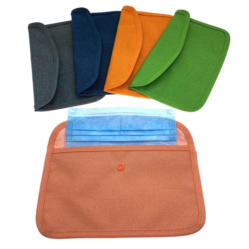 Сумка для хранения маски, сумка для хранения маски, маленькая тканевая сумка с временным зажимом, сумка для хранения с зажимом, сумка для хранения маски