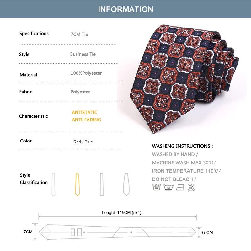 Gentlemen Business Ties 2020 New 7CM Geometric Print Tie For Men Business Suit Work Necktie High Quality Fashion Formal Neck Tie