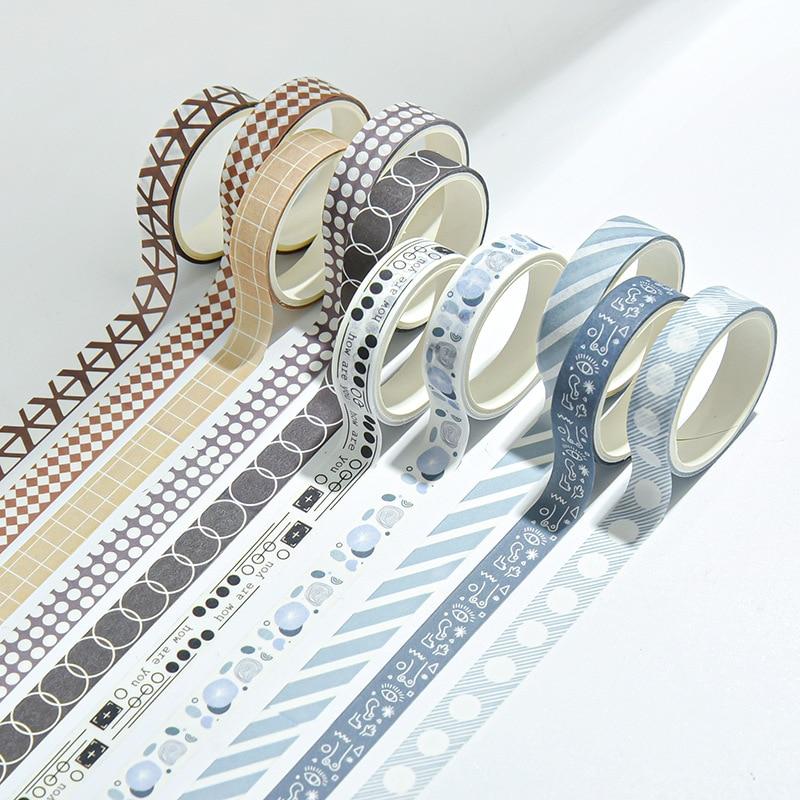 Washi лента в горошек, круглые наклейки, наклейки в горошек для рукоделия, декоративные дневники, фотоальбомы, японские канцелярские принадле...