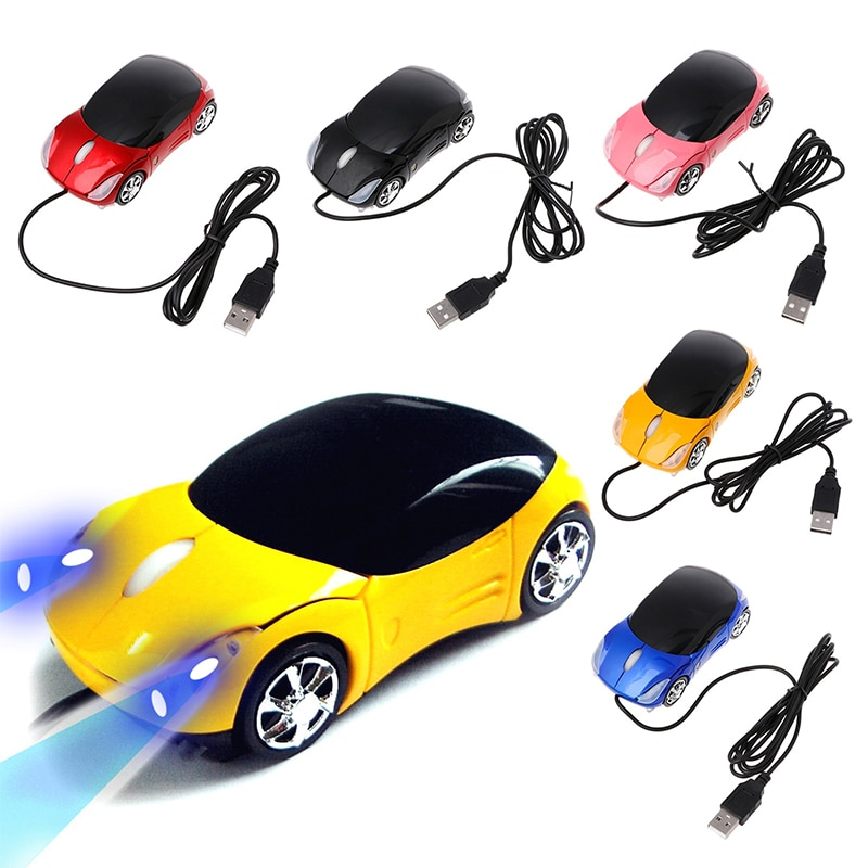 AliExpress - New Wired Mouse 1000DPI Mini Car Shape USB 3D Optical Innovative 2 Headlights Gaming Mouse For PC Laptop Computer Gamer