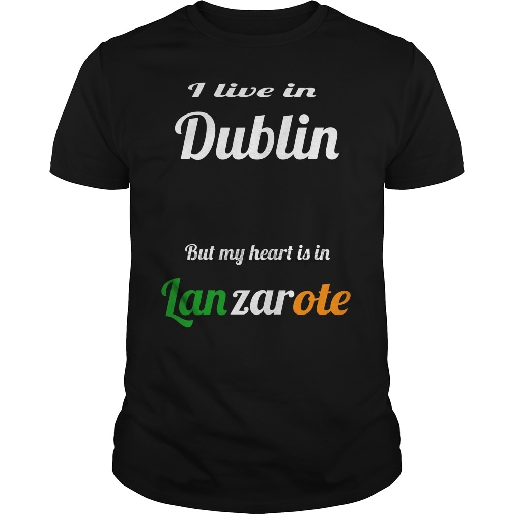 Los hombres manga corta Camiseta Lanzarote Dublín camiseta cool camiseta Mujer