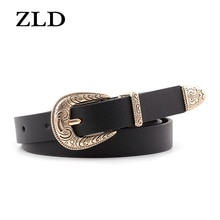 ZLD New retro Simplicity women belt fashion classice alloy pin buckle belts Casual wild jeans Strap