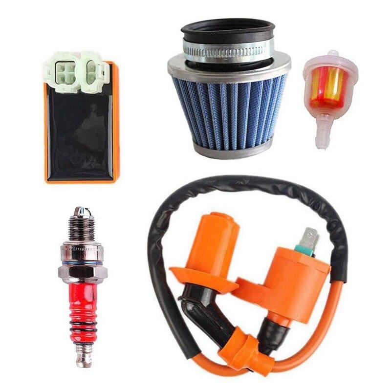 Gy6 bobina que compete a ignição do filtro de ar cdi para 50cc 125cc 150cc 139qmb 152qmi 157qmj com o motor do filtro de combustível atv ciclomotores ir