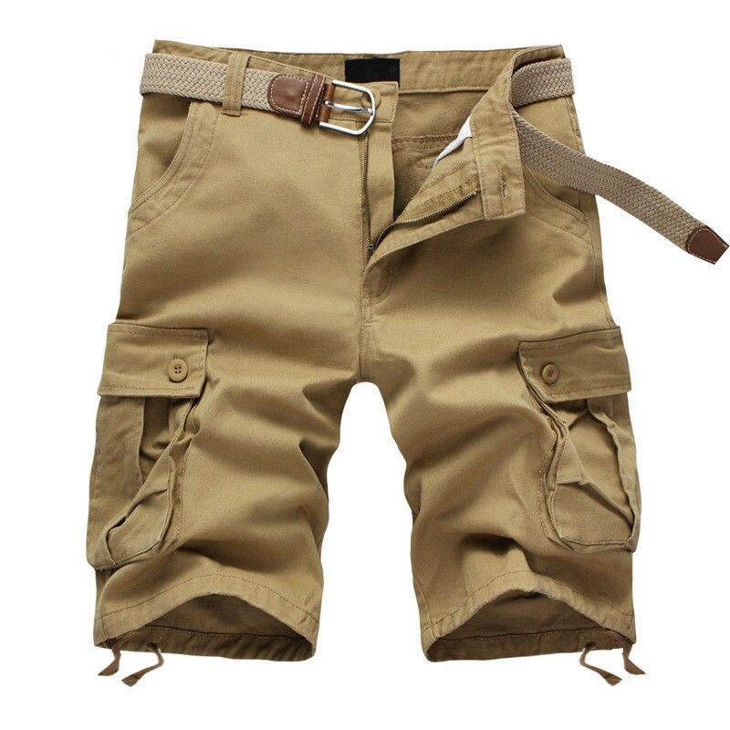 Новинка 2021, мужские мешковатые шорты с множеством карманов, стиль милитари, хлопок, хаки, мужские тактические шорты, короткие брюки