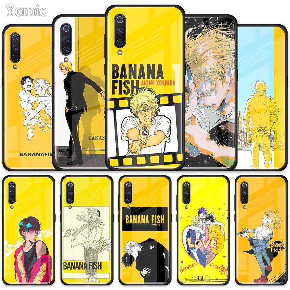 Banana pescado Anime funda para Xiaomi Redmi Mi nota A3 9T 10 Lite jóvenes 10X 9 9S 8 8T K30 K20 Pro K30i de templado de vidrio de cubierta del teléfono