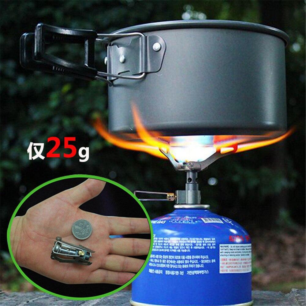 BRS-3000T fogão a gás ao ar livre portátil mini acampamento fogão de titânio sobrevivência forno fogão bolso piquenique cozinhar queimador a gás 25g