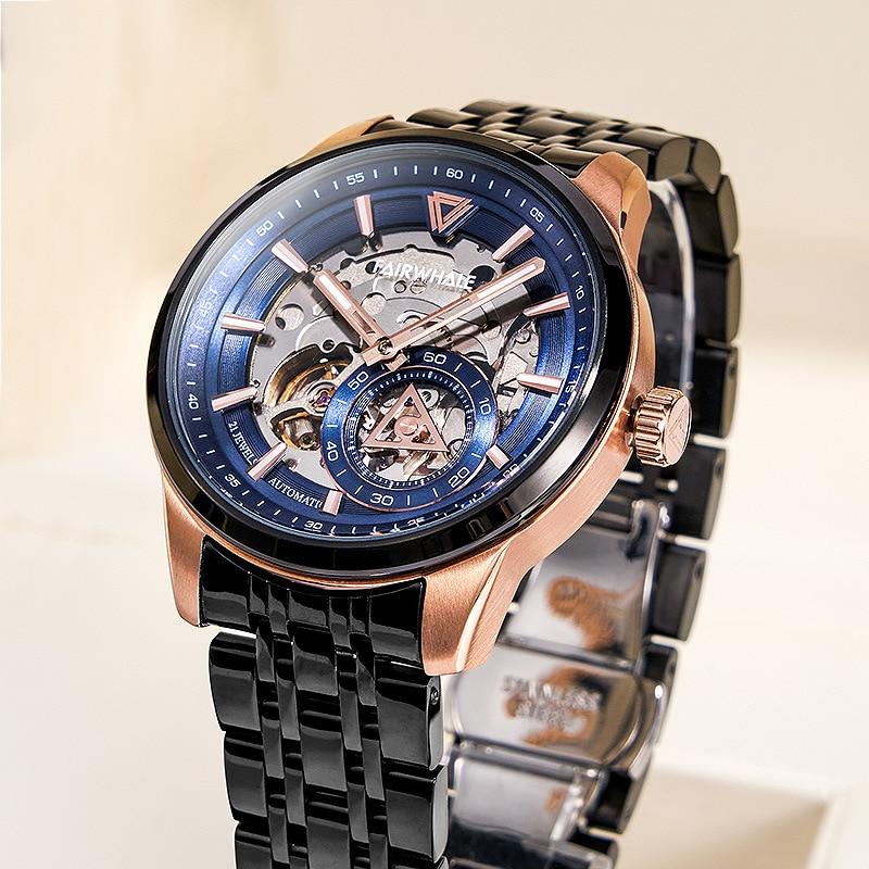 Новые импортные механические часы с автоматическим механизмом мужские известные часы Известный бренд модный бренд Взрыв