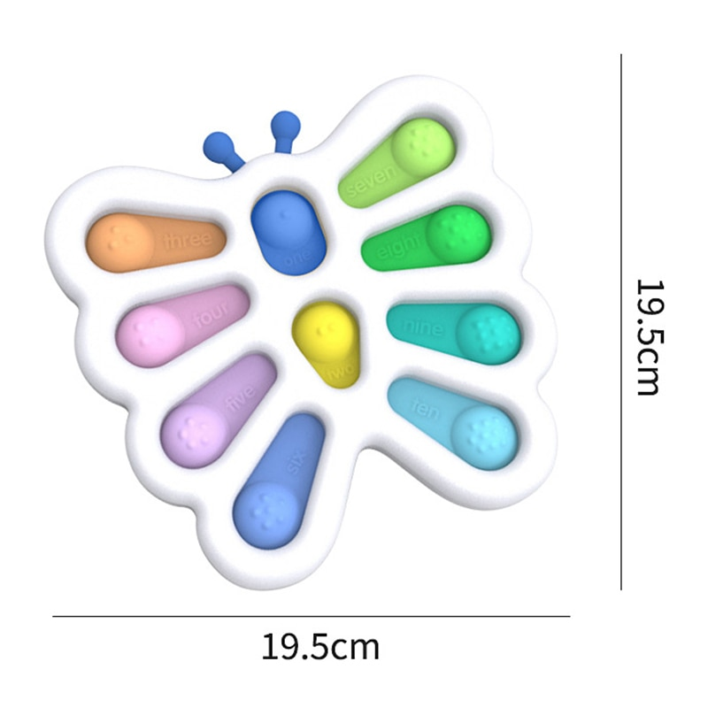 Colorful Fidget Push Pops Bubble Sensory Squishy Stress Reliever Autism Needs Anti-stress Pop-It Rainbow Adult Children Toys enlarge