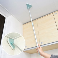 1PC Sponge Cleaning Brush Retractable Long Handle Wash Brush For Bathroom Floor Tile Bathtub