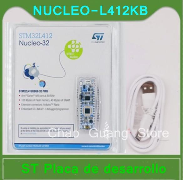 1 uds NUCLEO-L412KB stm32l412 Nucleo-32 placa de desarrollo braço stm32l412kb mcu