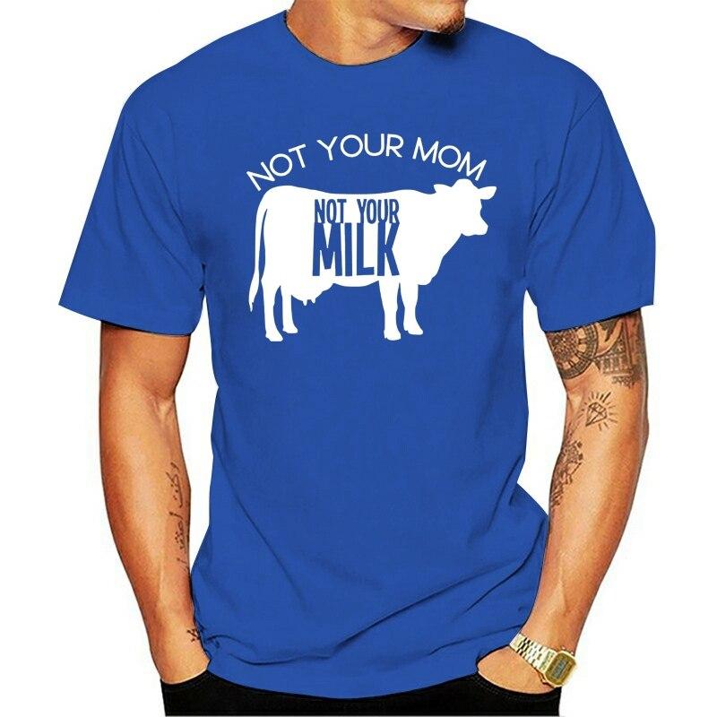 Não sua mãe não seu leite vaca silhueta engraçado planta baseada camiseta parágrafo homem 2021 lazer moda T-shirt 100% algodão