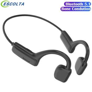 Bone Conduction Headphones Wireless Bluetooth Headset Sports Handsfree Music Headset With Microphone Waterproof Earbuds