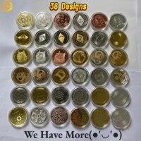 Bitcoin Ethereum Litecoin Dash Ripple Monero EOS Coin Metal Physical silver Gold Ada Cardano Commemorative BTC Crypto Coin