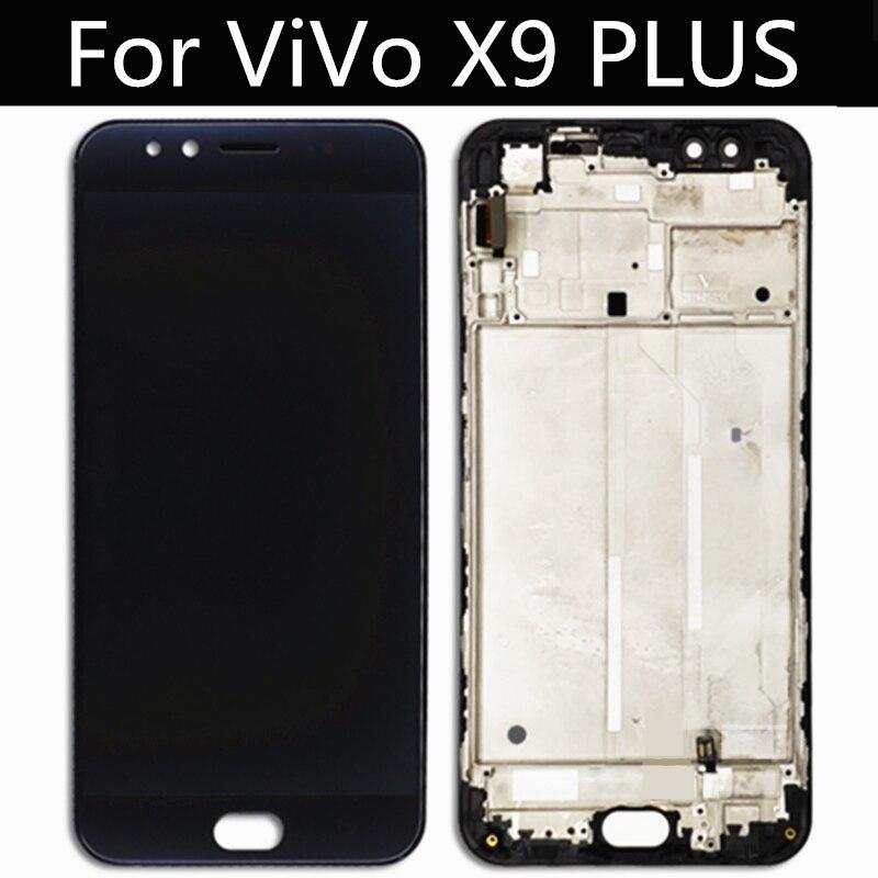 ل فيفو X9 زائد شاشة الكريستال السائل + شاشة تعمل باللمس مع الإطار محول الأرقام الجمعية استبدال للهاتف X9 زائد شاشة LCD