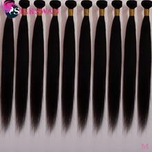 Straight Hair Bundles Bulk Buy 10Pcs/Lot Human Remy Hair 26 28 30 Inches Long Size Silkswan Silky Br