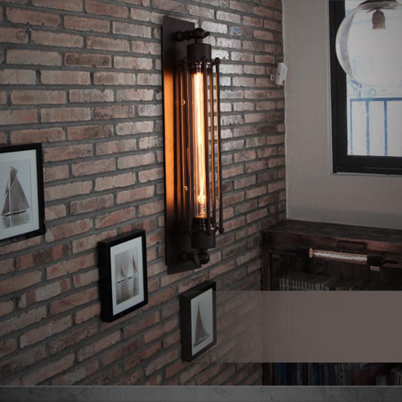 E27 decorativo corredor barra lâmpada de parede fácil instalar restaurante interior cafe vintage estrutura ferro retro hotel industrial