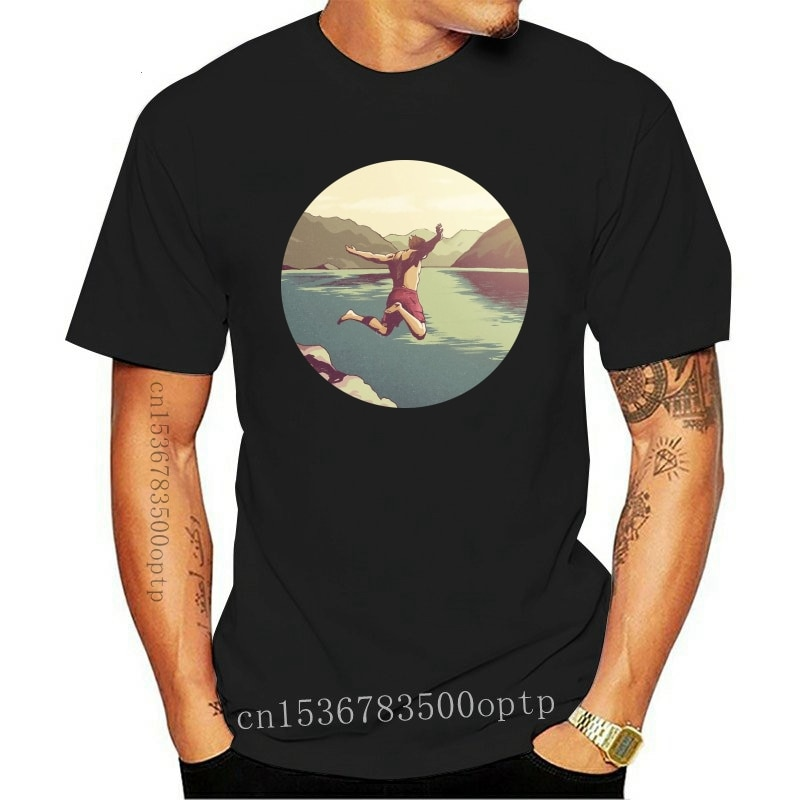 New Cliff jumping T shirt life summer cliff swim yolo nature jump dive river mountains